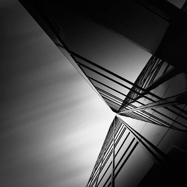 Architecture abstraite et photographies en noir et blanc