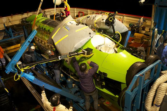 The First Test of the Deepsea Challenger