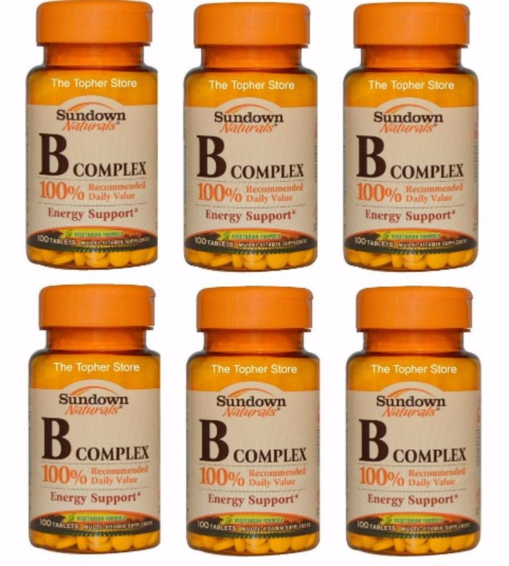 6 Bottles Sundown Naturals Vitamin B Complex 600 Tablets Total - Just $24.99 Shipped To Your Door! #Sundown #Sundown Naturals #BComplex #Vitamins #Healthy #Living Well #Vitamin B