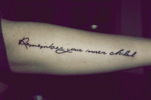 Inner Child Tattoo: Remember Your Inner Child Tattoo