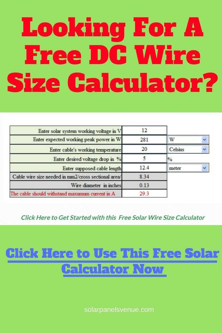 solar dc wire sizing free solar dc wire calculator helps you design your solar wire and estimate voltage drop  [ 735 x 1102 Pixel ]