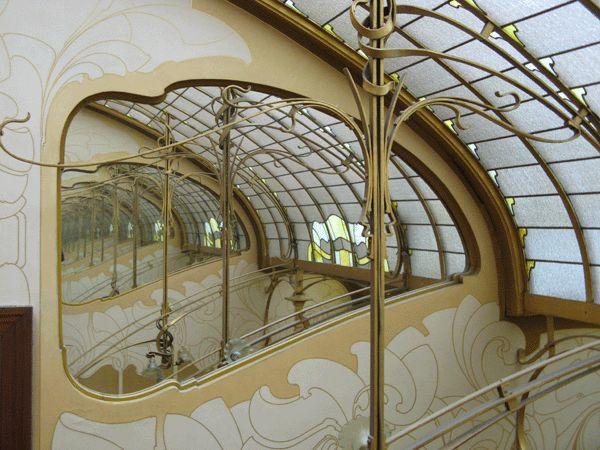 Interior glass, Horta Museum, Brussels, art nouveau