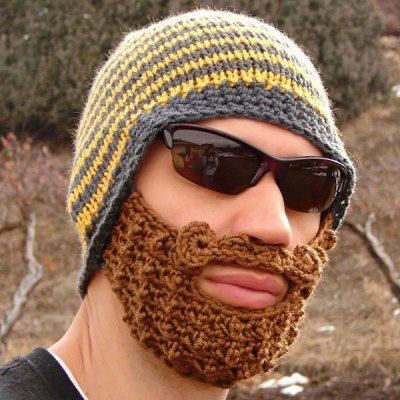 Popular Woolen Material Funny Hat with Removable False Beard Mask-7.64 and Free Shipping| GearBest.com