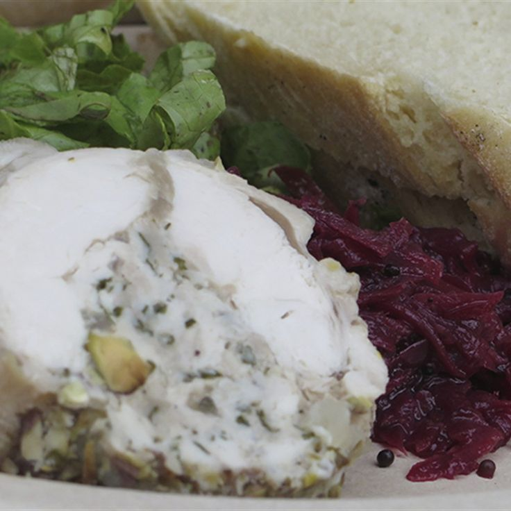 Try this Chicken Pistachio Galantine with Beetroot and Fennel Relish recipe by Chef Paul West . This recipe is from the show River Cottage Australia.
