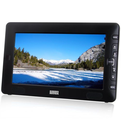 """August DTV905 - 9"""" Portable Freeview TV - Small Screen LCD Television with Multimedia Player - Digital TV for Bedroom, Kitchen, Caravan... - Battery (Internal) or Mains Powered - http://www.computerlaptoprepairsyork.co.uk/monitorstv-screens/tvs/august-dtv905-9-portable-freeview-tv-small-screen-lcd-television-with-multimedia-player-digital-tv-for-bedroom-kitchen-caravan-battery-internal-or-mains-powered"""