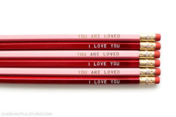 Cute Valentine Gift for Girlfriend Love Pencils Pencil Pack