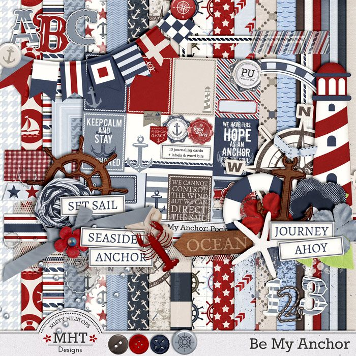 freebie, digital scrapbooking kit, nautical, ocean, beach, mistyhilltops.com, sail, be my anchor, hobby, diy, lighthouse, seaside
