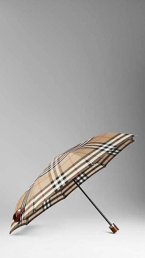 Folding Check Umbrella | Burberry