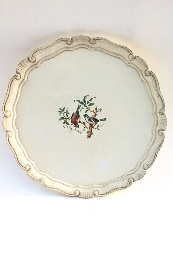 Vintage Cream Round Italian Florentine Style by SouthofFranceFinds