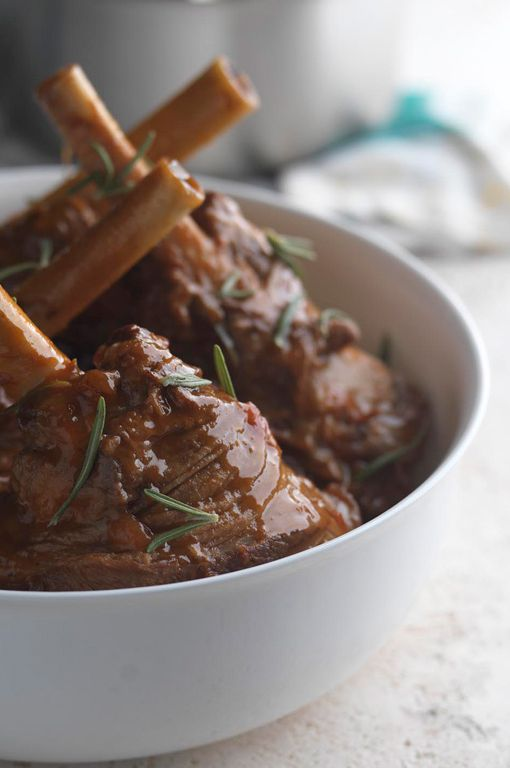 Lamb shanks with tomato and rosemary - Martin Wishart. As a hard working muscle, the shanks are not suitable for roasting and require slow cooking, but your patience will be rewarded with tender, flavour packed meat.