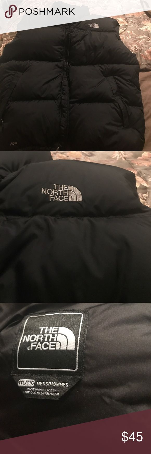 Men's North Face vest Black The North Face 700 puffer vest in excellent condition size xxl mens The North Face Jackets & Coats Puffers
