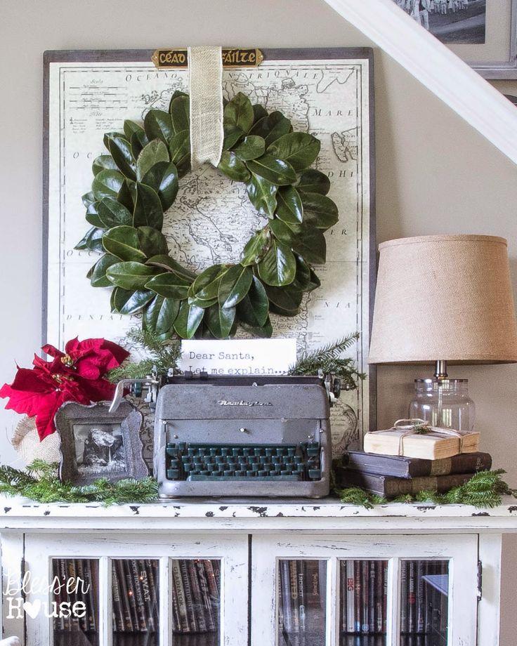Bless'er House   French Industrial Christmas Vignette Decor