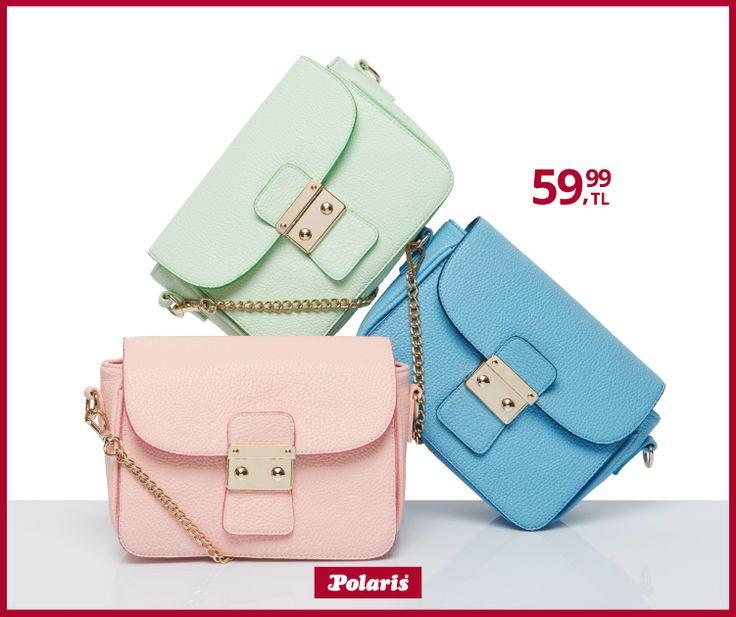 Birbirinden renkli çantalar Polaris'te. Sizin renginiz hangisi? #fashion #fashionable #style #stylish #polaris #polarisayakkabi #shoe #shoelover #ayakkabı #shop #shopping #women #womanfashion #moda #womenstyle #çanta #bag #pastel #tonlar #rengarenk #mavi #yeşil #pembe