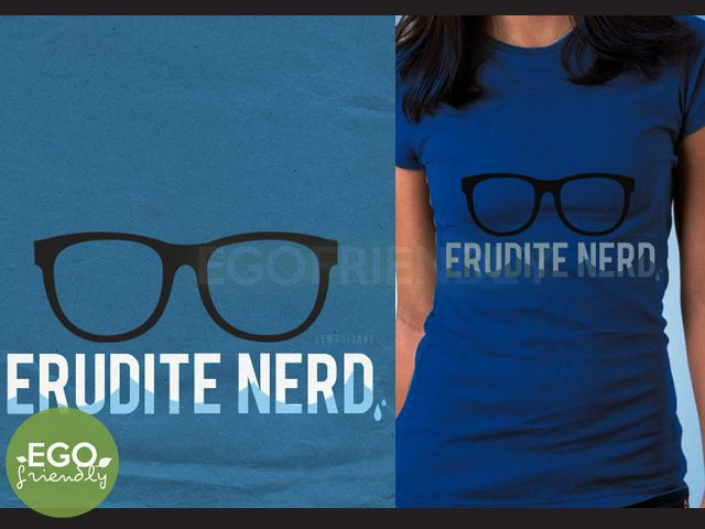 Erudite Nerd T-shirt based on the Divergent books by Veronica Roth (by Madi de Jesus at Ego Friendly Designs)