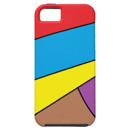 abstract multicolored pattern iPhone 5/5S cases