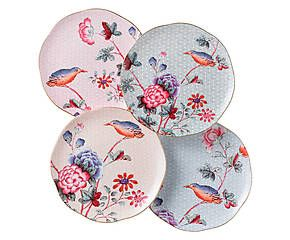 WEDGWOOD Dessertbordjes Cuckoo, 4-delig, diameter 16 cm