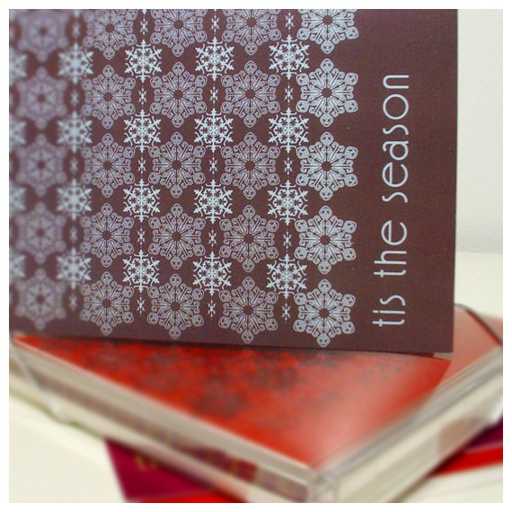 Vintage Holiday Stationery, 2007.  Snowflake Collection
