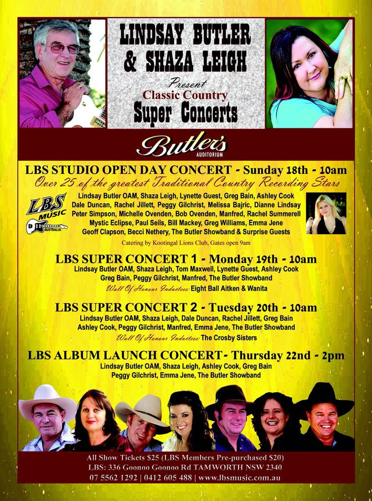 The LBS shows poster for the upcoming 2015 Tamworth Country Music Festival. Did you know that this festival is one of the largest in the world?