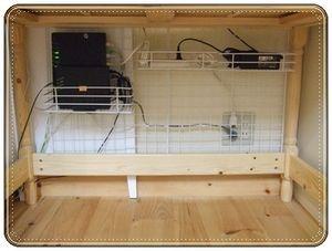 happy-go-lucky パソコン周りのケーブルを収納して机スッキリ♪ : 【収納術】デスク周りと引出しの整理 参考アイデア 画像集 - NAVER まとめ