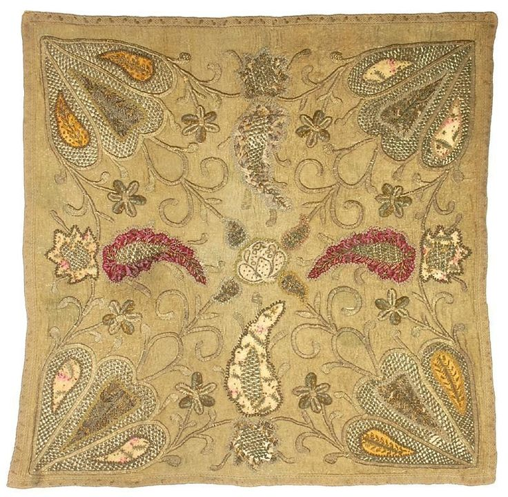 Ottoman Embroidered Cover with Boteh, 18th / 19th C.