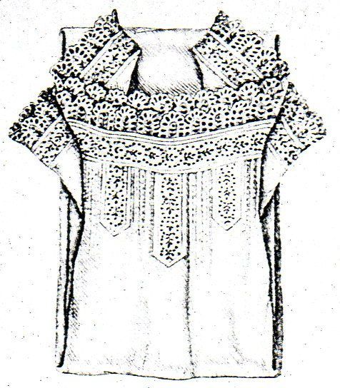 Chiffon or linen chemise from Budapesti Bazár 1878