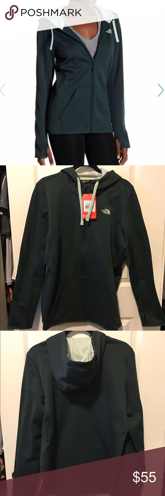 North Face Green Zip Up Hoodie North Face Green Zip Up Hoodie The North Face Jackets & Coats