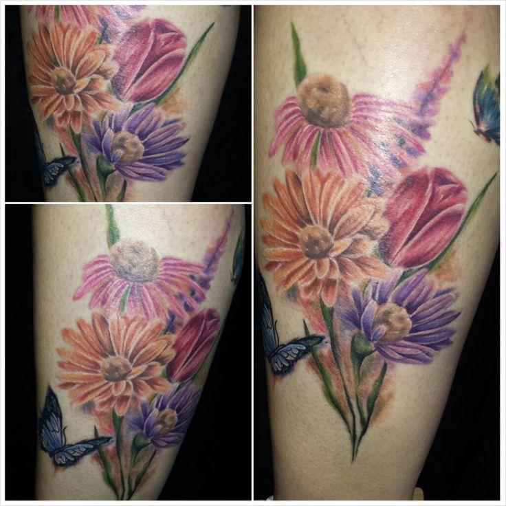 Jun 2012 Flower tattoos are a perfect choice for women who want to celebrate their growing into a bouquet of flowers as the woman adds to the design. Description from air-blocker.com. I searched for this on bing.com/images