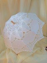 Зонтик от солнца х/б № 41, белый /кружево, бамбук/
