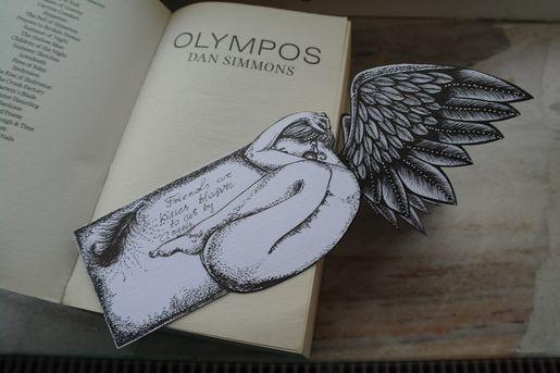 Anielska zakładka do książki.  Kliknij w zdjęcie, aby zobaczyć więcej!