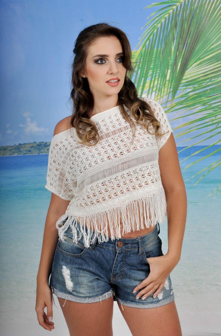#linda #blusa de #verao em #trico #montesiao  http://www.coresemoda.com.br/