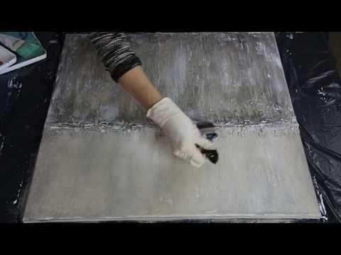 """Abstraktes Acrylbild mit Struktur """"Stone"""" Palette Knife Demonstration – YouTube – Jutta Kaiser"""