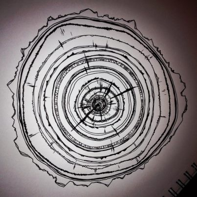 Tree Ring doodle by Bailey Ostrom | Tree ring tattoo, Wood ...