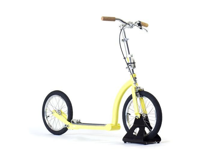 SwiftyONE Yellow and Silver   Custom Colour   Folding Adult Scooter   Kick Scooter - Swifty Scooters