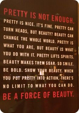 be a force of beauty