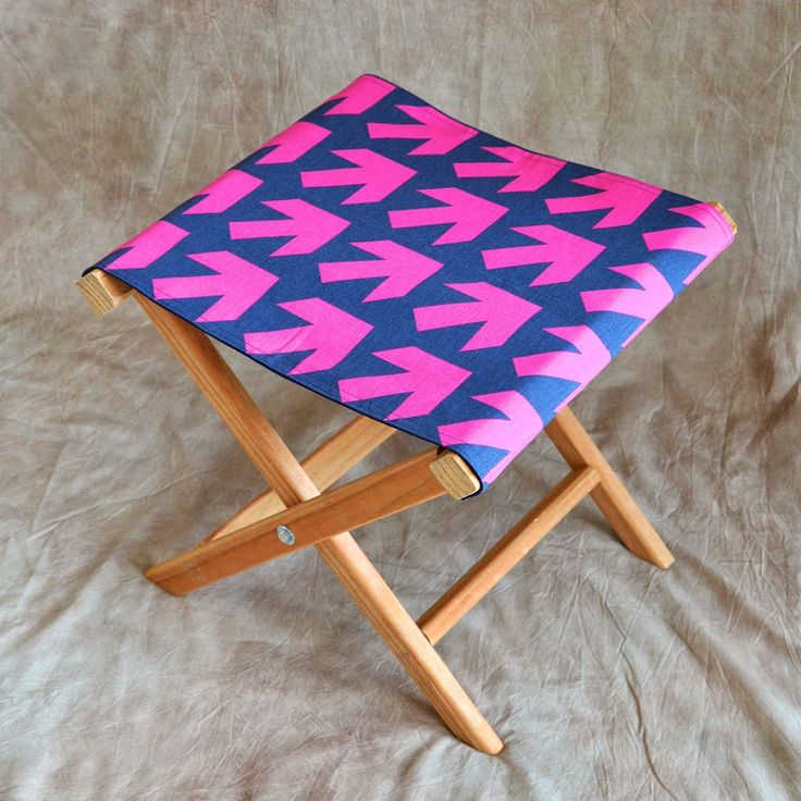 How to make a folding camp stool | How About Orange First project after the holidays!