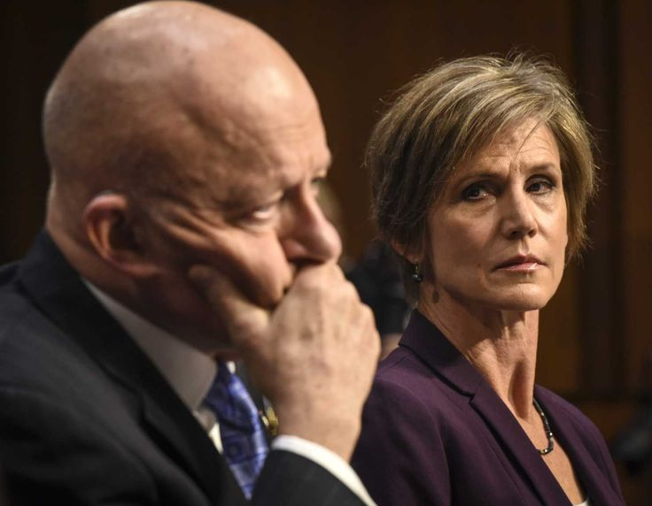The former acting attorney general testified at a Senate Judiciary Committee hearing.