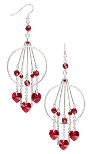 Jewelry Design – Earrings with Swarovski Crystal and Silver-Plated Brass Drops – Fire Mountain Gems and Beads