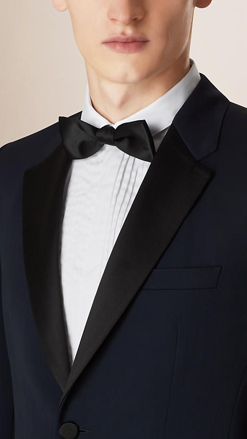 Modern Fit Virgin Wool Half-canvas Tuxedo   Burberry