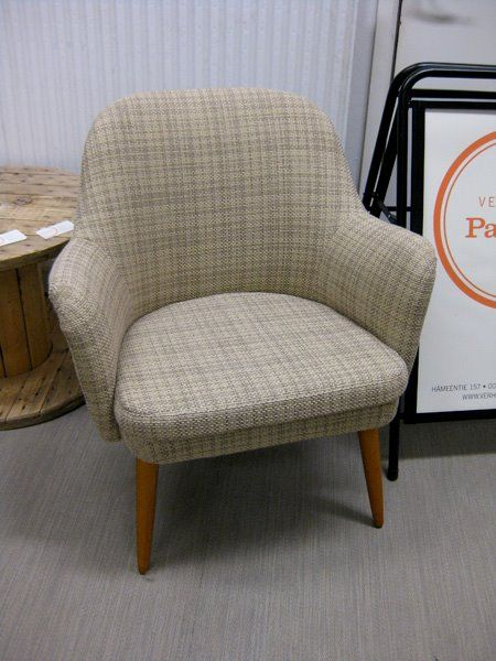 Reupholstered 50's chair www.verhoomopalttina.com