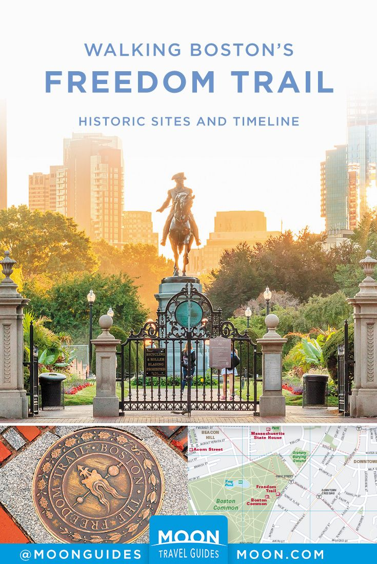 Plan a self-guided walking tour of the Freedom Trail with this overview of  historic sites, timeline, and helpful map. #boston #freedomtrail #newengland