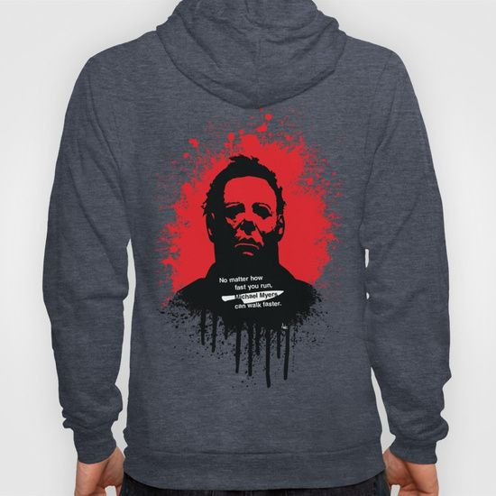 Halloween Hoody by Fimbis        Michael Myers, horror, art, scary movies, illustration, blood, movie poster, dark, wrap up warm, apparel,
