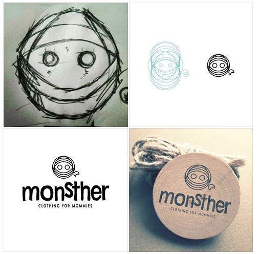 monstHer logo process