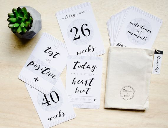 Hey, I found this really awesome Etsy listing at https://www.etsy.com/listing/248777784/pregnancy-milestone-and-moment-cards