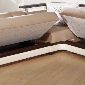 Beige Sectional Sleeper Sofa