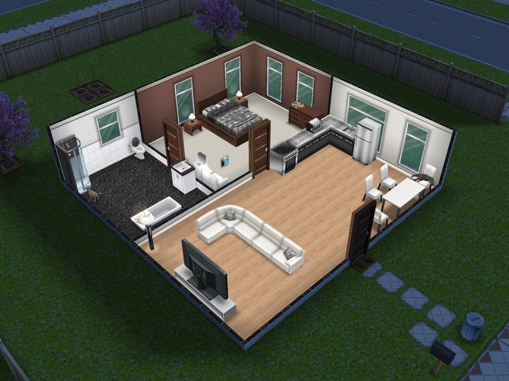 Small and simple sims freeplay house