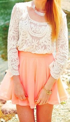 Coral & Lace ♥