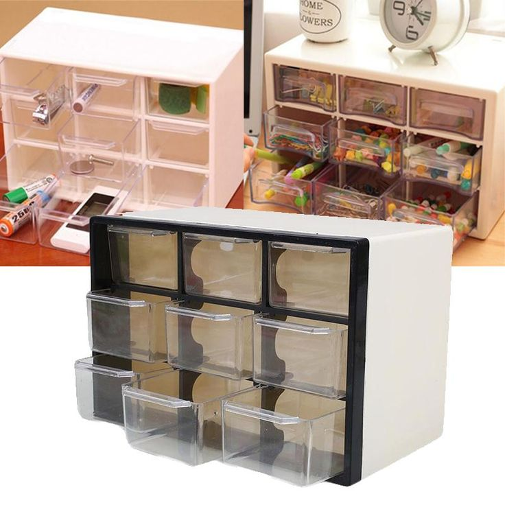 9 Grid Transparent Plastic Storage Cabinet Multi Layer Drawer Save Space Box Cabinets Food Sundries Organizer Home Accessories