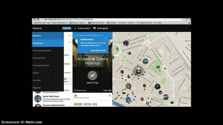 Using Tripomatic and Google Custom Maps