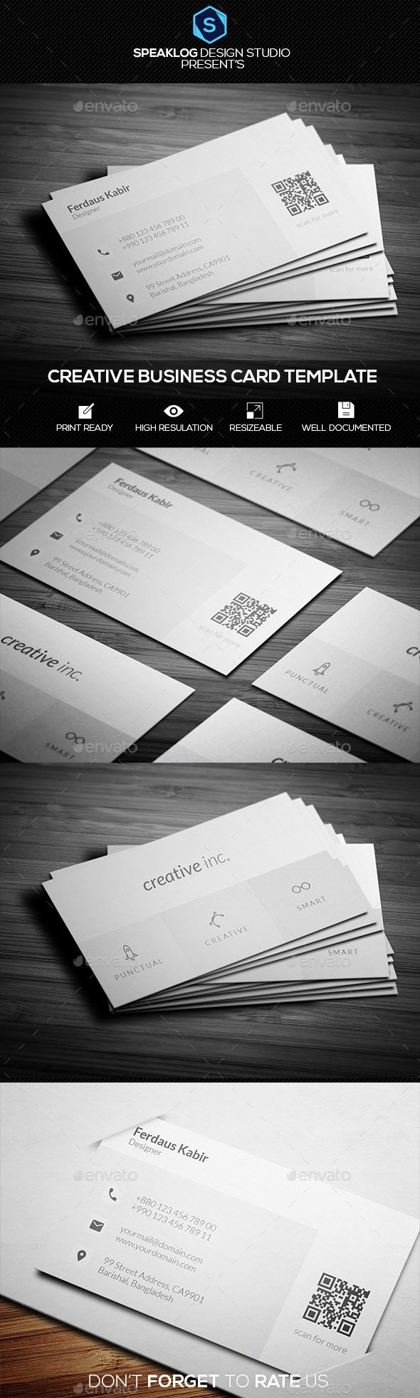 Clean Business Card Template PSD #design Download: http://graphicriver.net/item/clean-business-card-template/13985313?ref=ksioks