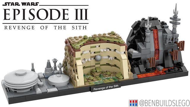 Lego Star Wars Revenge Of The Sith Skyline Moc